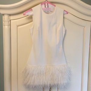 Elizabeth and James amazing ostrich feather dress